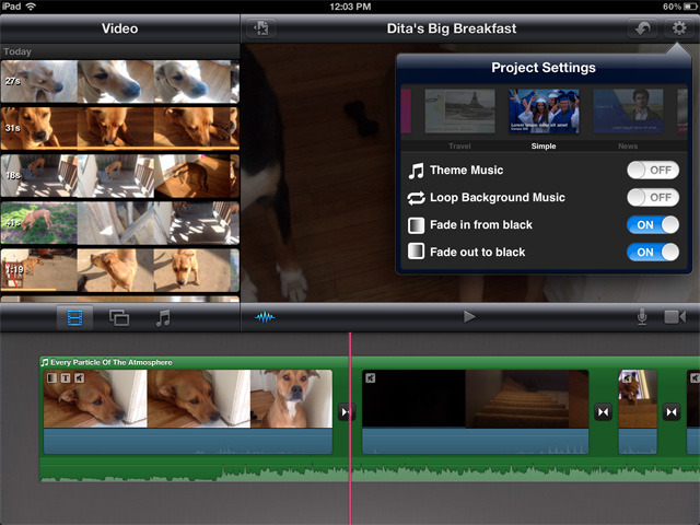 iMovie includes some basic theme-based titles that look decent, but don't offer much flexibility.