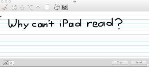 Ink for OS X but not iOS