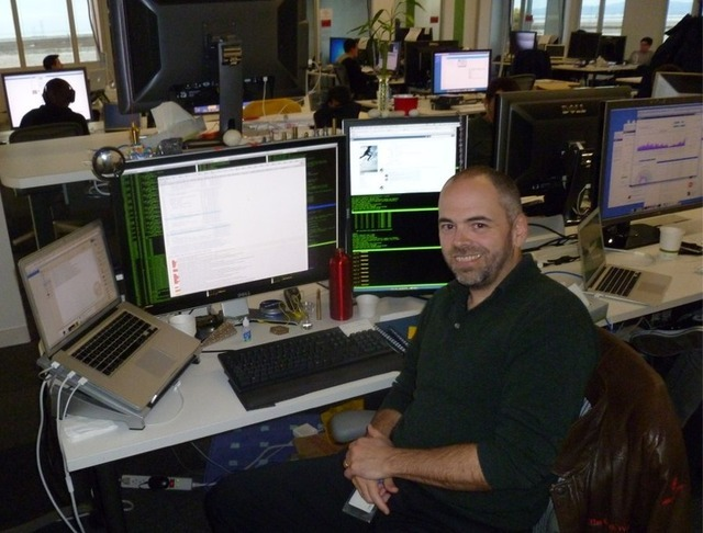 Chuck Rossi at his workstation