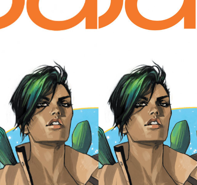 Cover of Saga #1 on the iPad 2 and new iPad at 2048 by 1536
