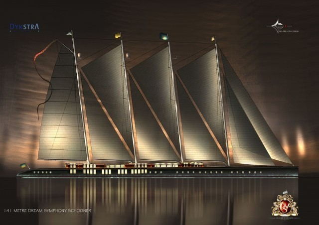 The 463-foot S/V Dream Symphony