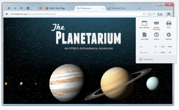 A mockup of Firefox's Australis theme as it might look on the conventional Windows desktop.