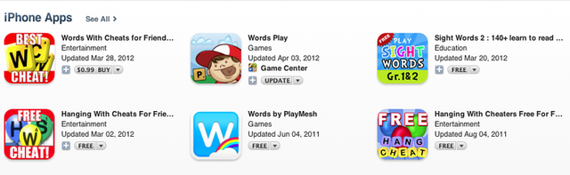 It's hard to be the number one search result even when your app name is an exact match for the search terms.