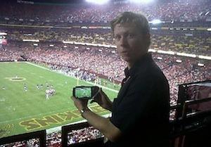 Al Matthews, at FedEx Field in Washington, DC, confirms that FanVision is working.