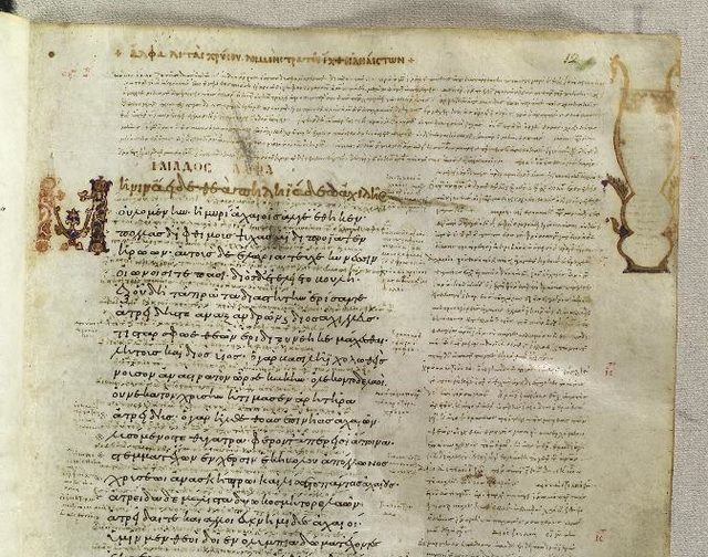The Venetus A document, with its associated notes, is available online.