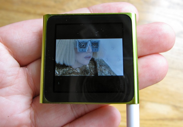 This is actually a music video, but the nano just displays a still image while playing the audio.