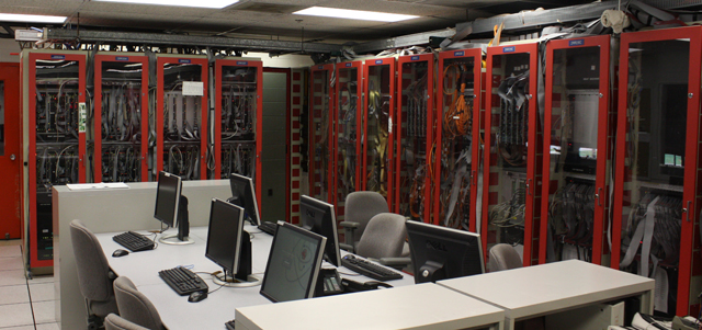 One of the computing clusters at Fermi.
