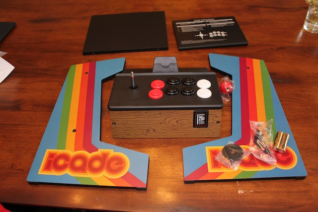 The iCade before assembly