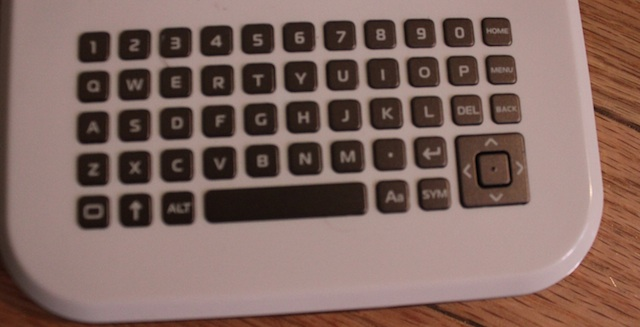 The keyboard features buttons so tiny and finicky it's almost unusable, especially the directional pad used to navigate menus
