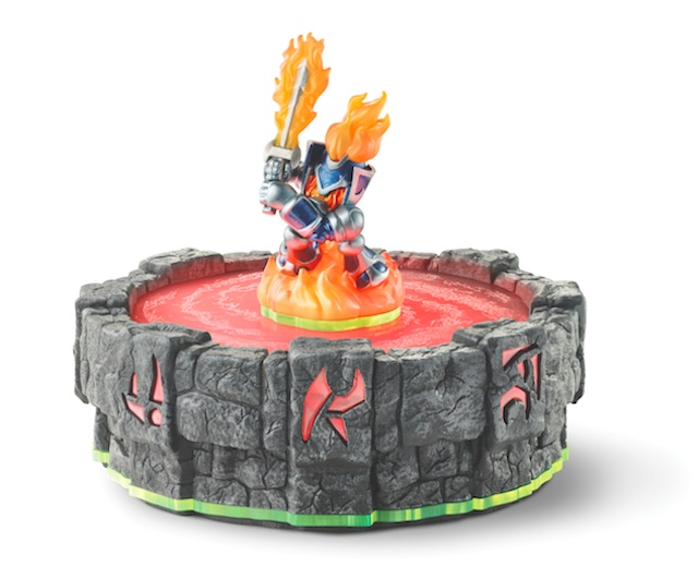 The portal glows different colors depending on your toy's element