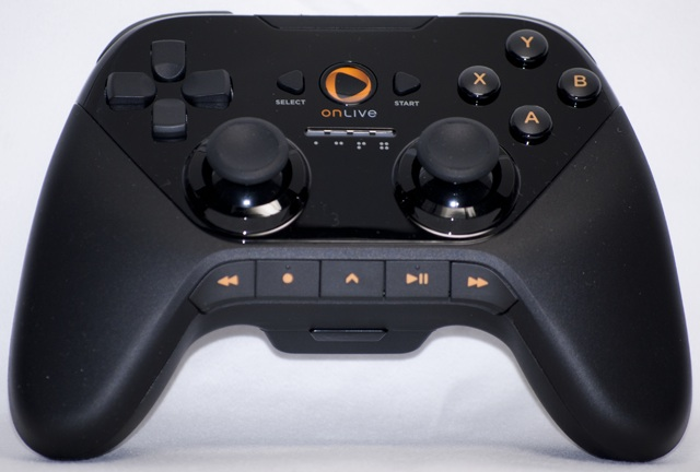 The OnLive controller looks and feels similar to the Xbox 360 controller, but also shares some characteristics of the Dual Shock 3. It has full media control buttons, along with all of the standard face buttons.