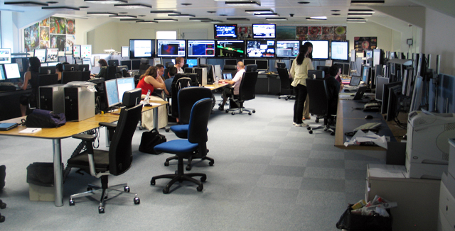 Inside the CMS control room.