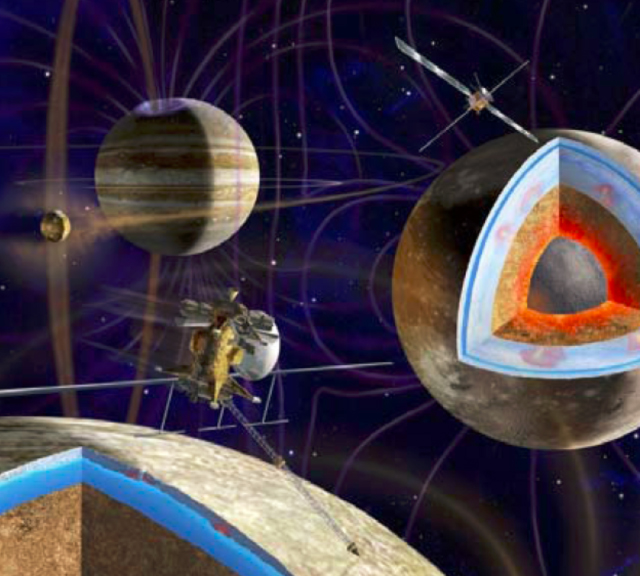 Artist's conception of the joint NASA-ESA Europa Jupiter System Mission.