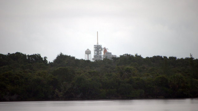 An early view of the launch site.