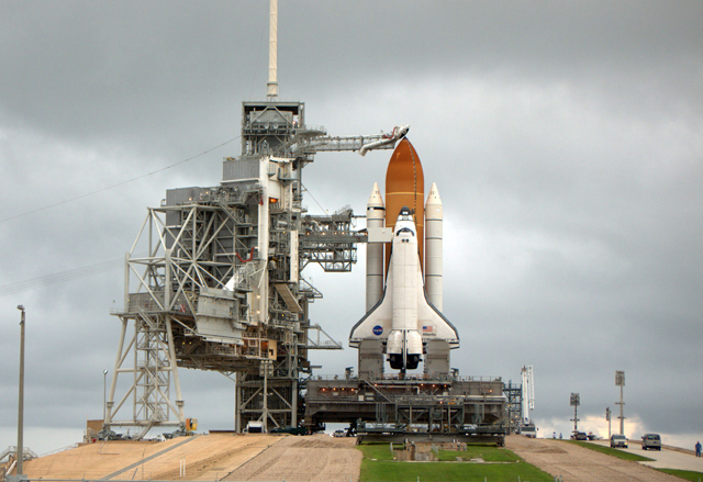 The full launch stack and its supporting infrastructure.