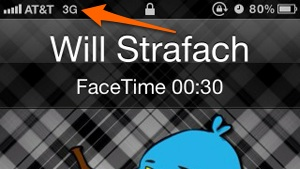 This FaceTime call is working without WiFi enabled.