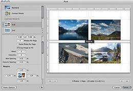 Aperture 3 Printing Layout