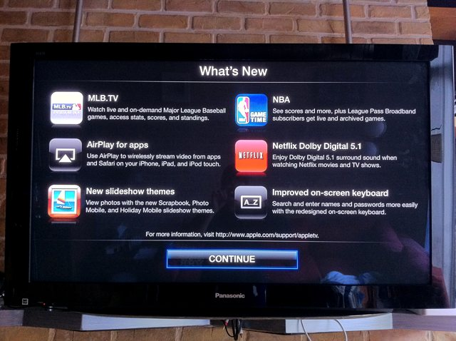 iOS 4.2 for Apple TV enables compatibility with MLB and NBA subscription services to access live games.
