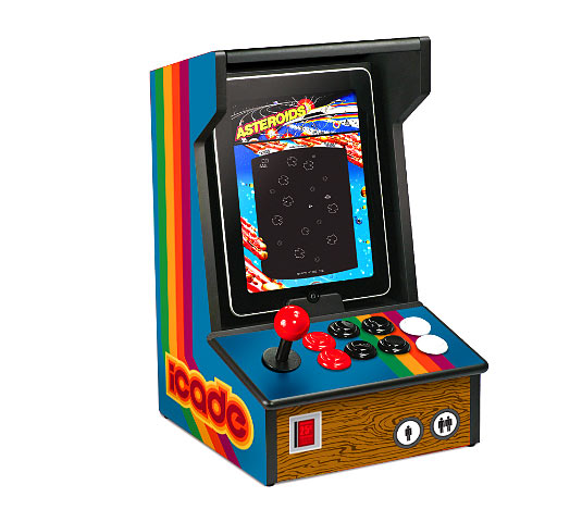 ThinkGeek and ION Audio have partnered to make the iCade a reality. <em>Atari's Greatest Hits</em> is the first game to support the device.
