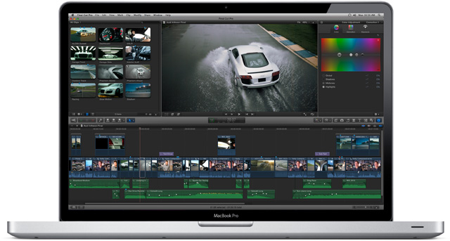 Final Cut Pro X includes built-in color grading tools.