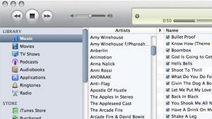 iTunes 9 new UI sample