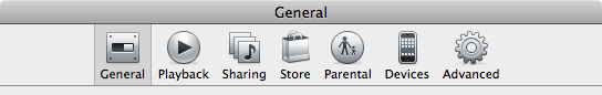 Not even the preferences tab bar escaped the monochrome treatment.