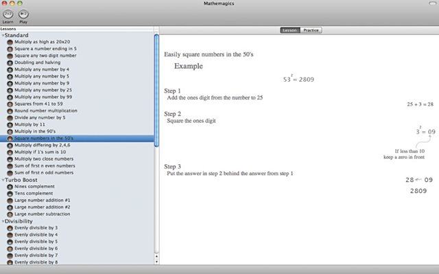 <em>Mathemagics</em> on Mac OS X looks quite different, with a UI more suited to desktop use.