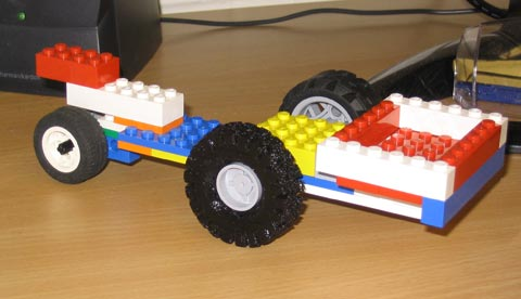 Wheels for the Lego car