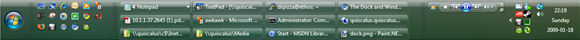 A Windows Vista Taskbar