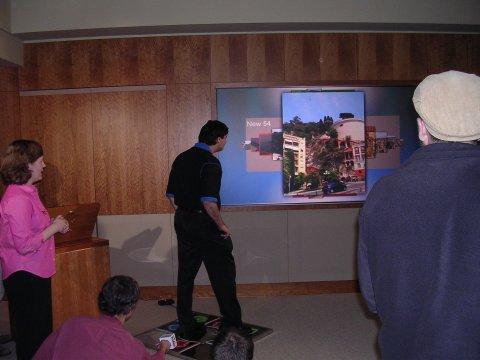 Dr. Drucker demonstrates a photo sorting program