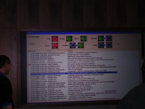 Closeup of the DDR e-mail interface