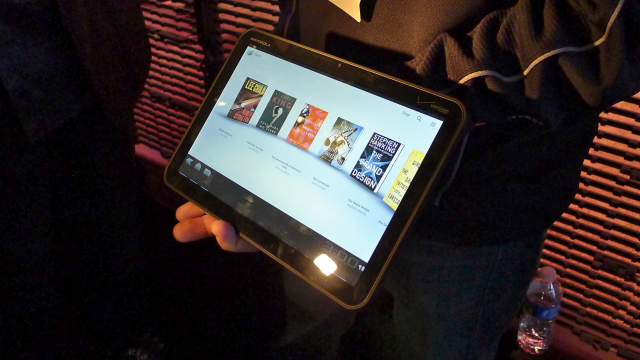 We got to touch a Motorola Xoom, but that was about it