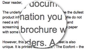 Ecofont sample