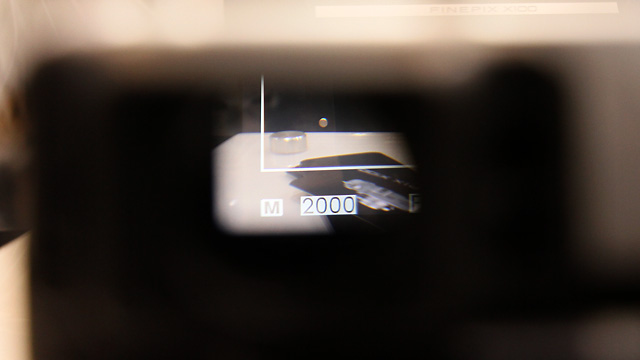 Here you can see a little peek of the hybrid viewfinder overlay.