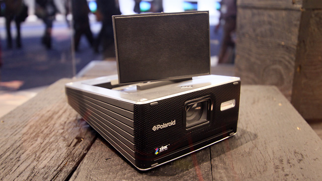 The Polaroid GL30 instant camera prototype shown of at CES 2011.