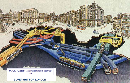 A proposed Foodtubes station in London