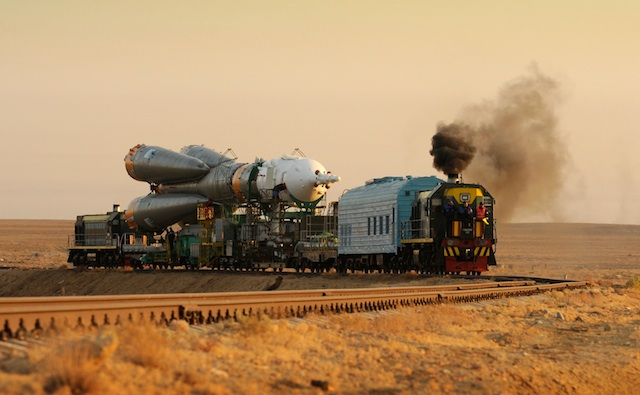 The Soyuz is made of three stages, all of which are one-use