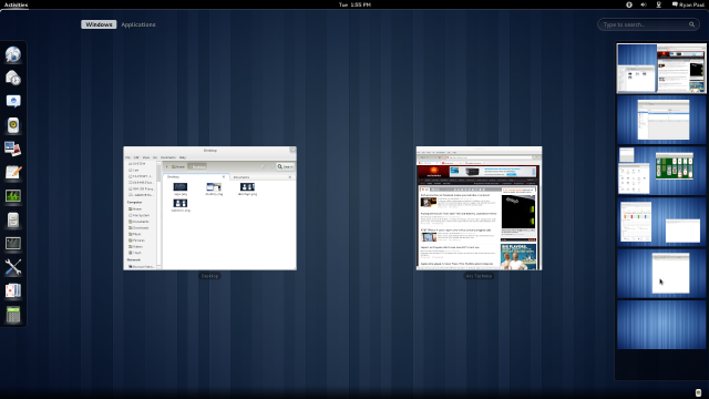 The new GNOME 3.0 desktop in Fedora 15