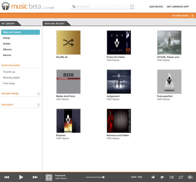 The Web-based music player