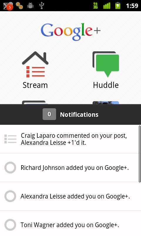 Sliding up the notification pane