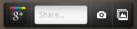 The Google+ homescreen widget