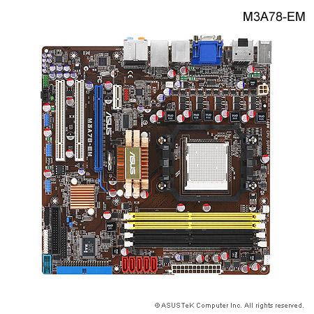 Asus M3A78-EM motherboard