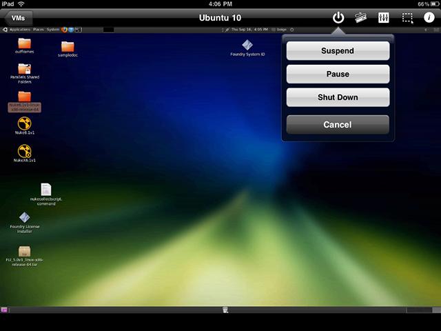 My Ubuntu 10.04 VM running on the iPad.