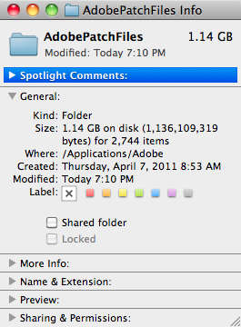 The good news is that this folder used to be invisible.