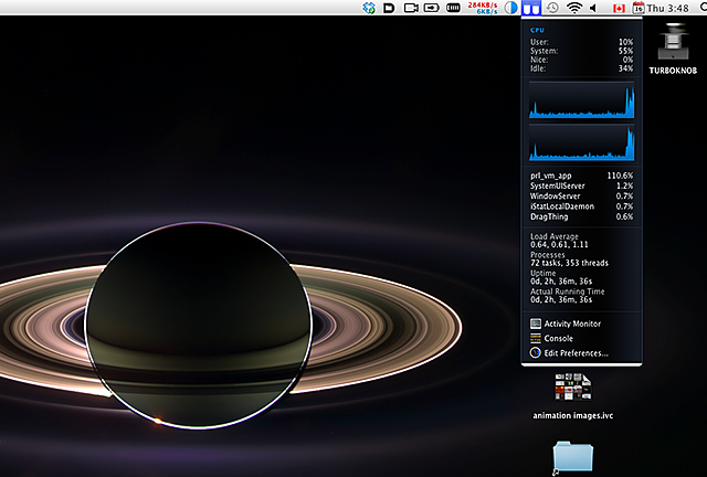 Invisible Ubuntu on my MacBook Pro running yes > /dev/null and pegging a core.