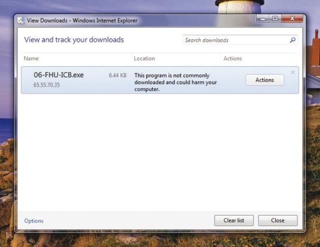 A suspicious download.