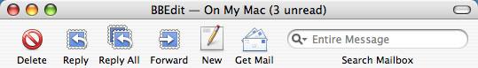 Panther Mail toolbar
