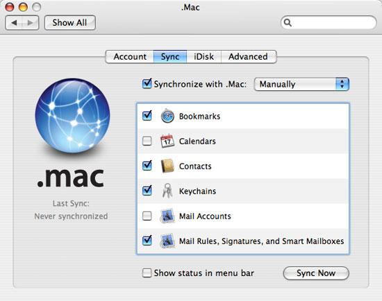.Mac sync preference pane