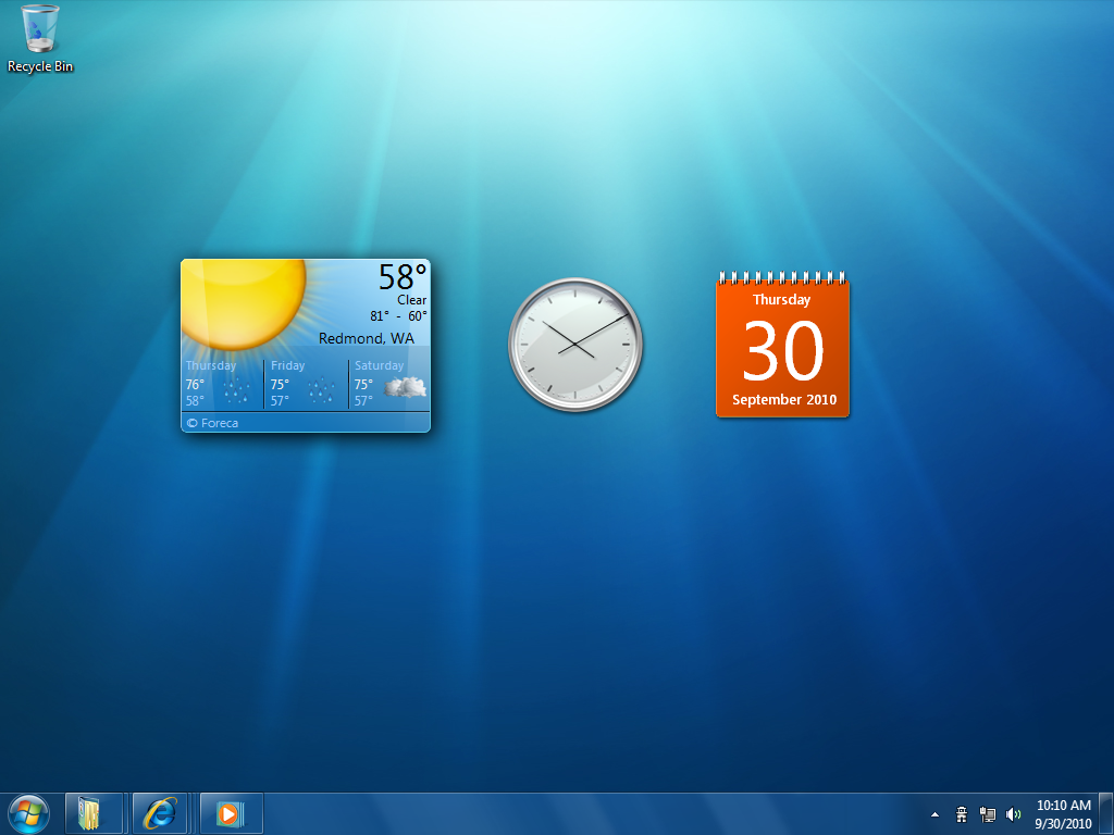 Windows 7 Screenshots