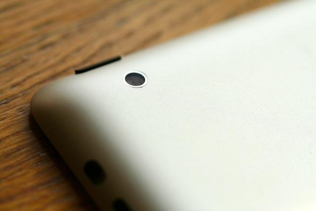 The iPad 2's rear-facing camera
